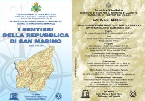 Mappa dei sentieri della Repubblica di San Marino